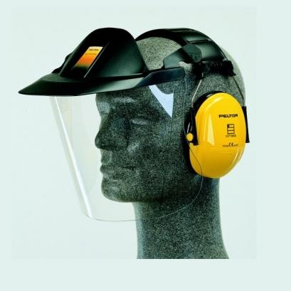 Idéal pour protéger visage et oreilles, le système industriel Peltor, avec visière en acétate