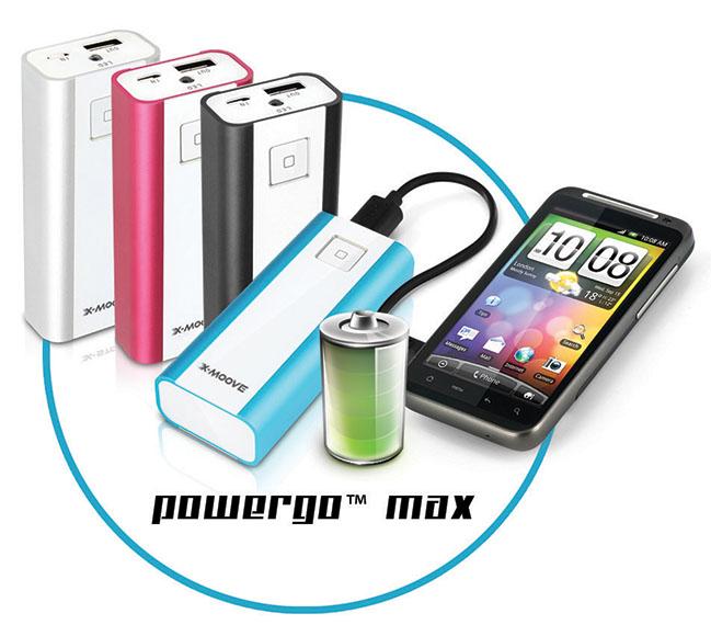 Recharge sans prise secteur : la batterie externe pour smartphone par X-Moove©